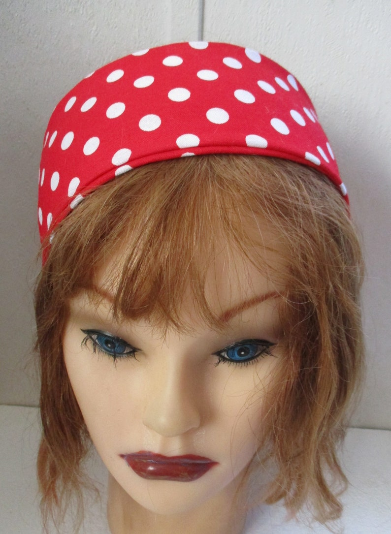 Women s Headbandfor women RED and Polka Dots Hair Band  41adc80fbf3