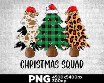 Leopard Plaid Christmas Squad, Merry Christmas, Christmas Tree, Christian Life Gift Digital PNG X400