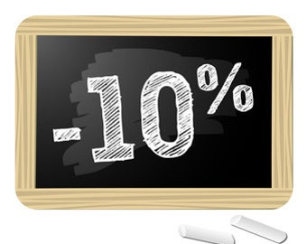 10% reduction on the shop: just for you !!!