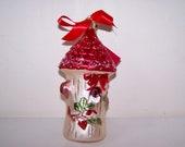 Lenox Christmas, Woodland Birdhouse, Christmas Ornament, Yuletide Treasures, Winter Greetings, Large Glass Ornament, 7 Inch Ornament