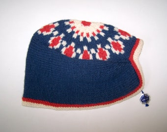 19ed8aab Nordic knit hat   Etsy