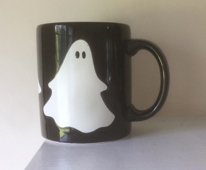 6be6737d12b Waechtersbach, Halloween Mug, Ghost Mug, Black and White, Vintage, Coffee  Mug, Tea Mug, Black Mug, Halloween Decor, Made in Spain,