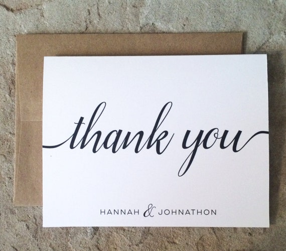 Personalized Thank You Cards Wedding Graduation All Etsy