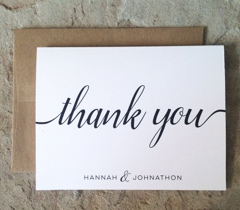 Personalized Thank You Cards  Wedding Graduation All image 0