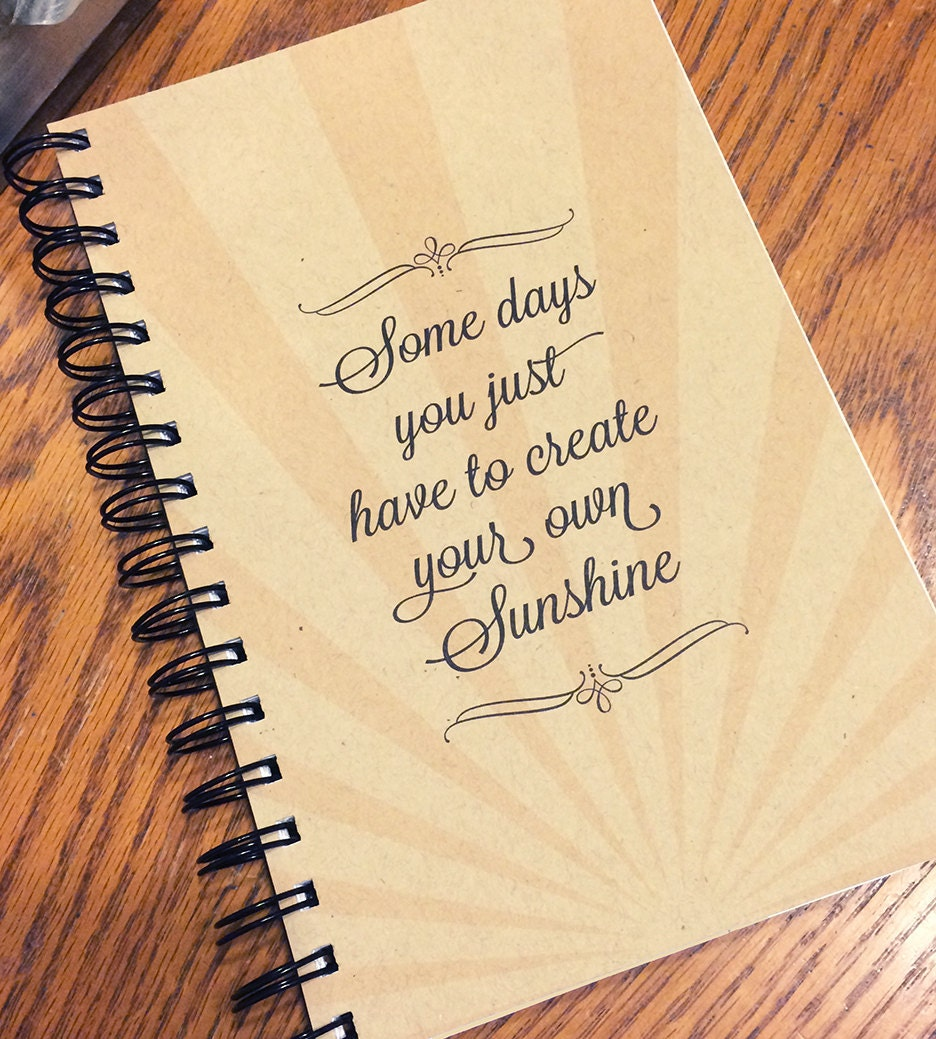 Inspirational Quote Kraft Cover Journal Spiral Bound Etsy