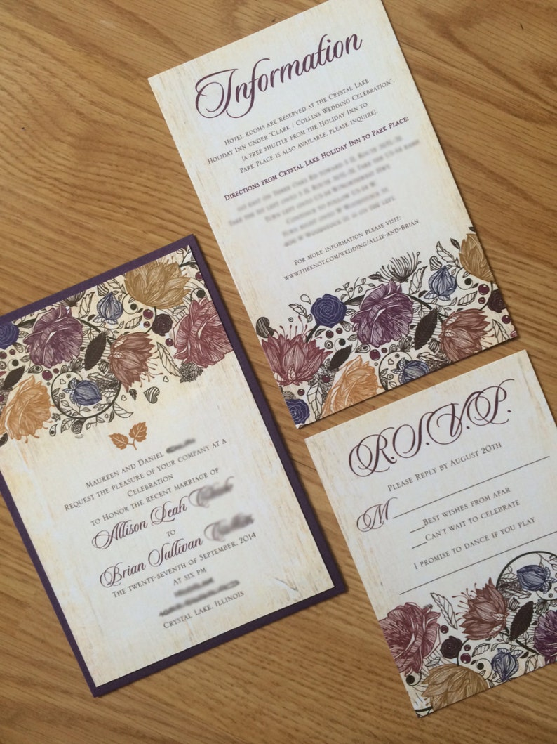 Image 0: Rustic Wedding Invitations Fall Colors At Reisefeber.org