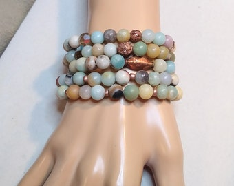 5 Peace Love Bronze Pearls 10mm set of 5 metal beads with big hole for hair bracelet