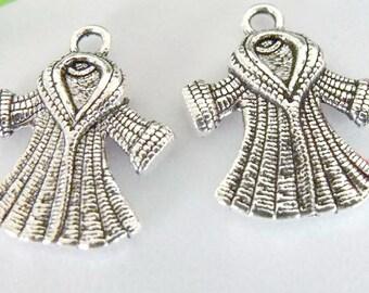 Fur Coat Sterling Silver Vintage Charm For Bracelet