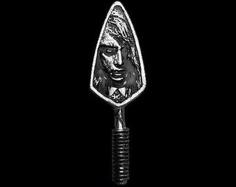 Night of the Living Dead Zombie Girl Pewter Trowel Pendant