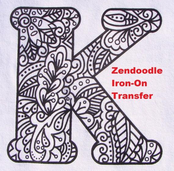 Litera K Transferu żelaza Na Ciepło Prasa Kolorowanka Dla Etsy