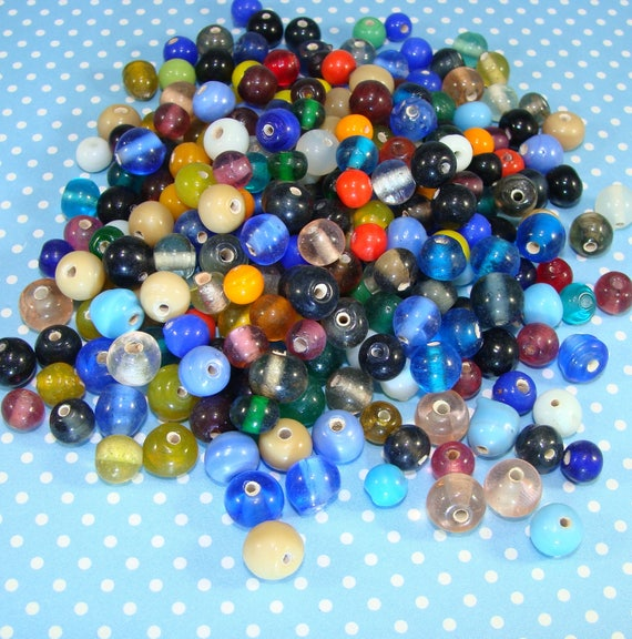180pcs x 6mm Beautiful Faceted Round Glass Crystal Beads In Black