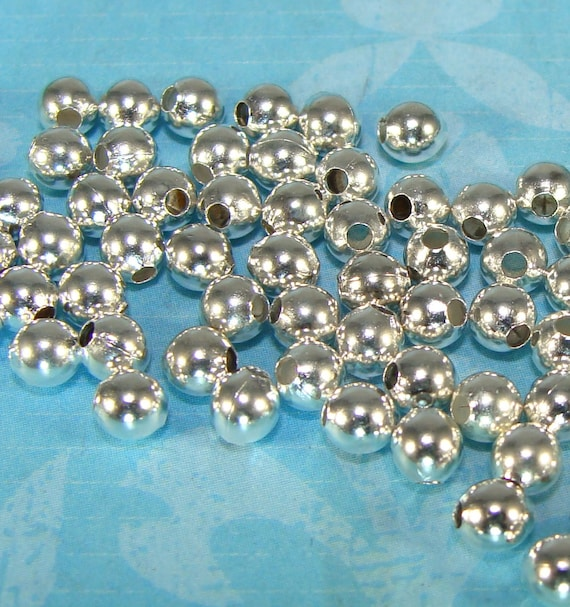 20 Antiqued Silver Plated Steel Rimmed 8mm Round Beads