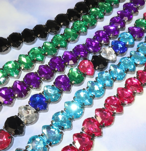 41 Teardros Faceted Glass Beads Crystal Pendant 8mm x 6mm Craft Jewllery Making