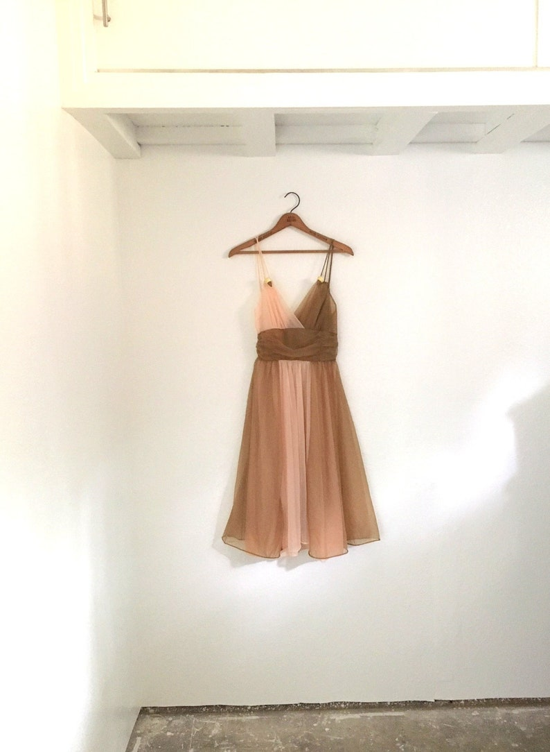 62bcfc0c2f4 Vintage 70s PINK And Brown NEAPOLITAN Nightgown Costume   Ice