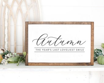 Autumn Wall Sign  | Fall Decor, Autumn Decor, Autumn Wall Hanging, Mantel Decor, Fireplace Decor, Seasonal Decor, Pumpkin Decor, Fall Leaves