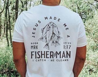Fisherman Shirt | Mens Christian Shirt, Mens Christian Gifts, Fisherman Gift, Fishing Shirt, Dad Gifts, Fisher of Men Shirt, Fishing Gifts