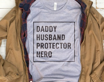 Dad Husband Hero Shirt | Cool Dad Shirt, Fathers Day Shirt, Dad Gift, Dad Shirts, Fathers Day Gifts, Husband Fathers Day Gift from Kids