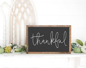 Thankful Sign, Give Thanks Sign, Fall Decor, Autumn Decor, Thanksgiving Sign, Harvest Sign, Bible Verse Fall Sign, Christian Sign, Prayer