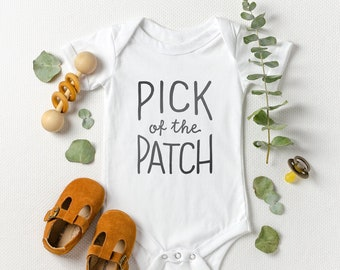Pick of the Patch Baby Onesie®, Halloween Baby Onesie®, October Baby, Rae Dunn Onesie®, Baby Halloween Costume, Thanksgiving Baby Onesie®