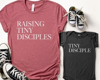 Tiny Disciple Onesie®, Tiny Disciple Kids Shirt, Disciple Toddler, Matching Mom & Kids Shirts, Twinning Shirts, Mom and Kid Disciple Shirts