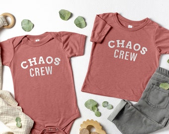 Chaos Crew Kids Shirt, Chaos Crew Baby Onesie®, Cute Family Shirts, Matching Kids Shirts, Cute Matching Family Shirts, Family T-shirts