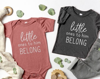 Little Ones to Him Belong Kids Shirt, Jesus Loves Me Shirt, Jesus Onesie®, Christian Kids Shirt, Jesus Kids Shirt, Christian Kids Clothes