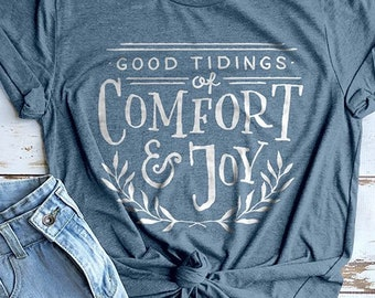 Christmas Shirt, Joy Shirt, Cute Holiday Shirt, Christmas Clothes, Christmas Gifts, Christmas Tees, Christmas Carol Shirt, Christmas T-shirt