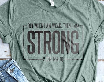 Strong Workout Shirt, Gym Shirt, Christian Shirts, Mom Shirts, Gym Shirts, Cute Workout Clothes, Strength Shirt, Bible Shirt, Bible Verse