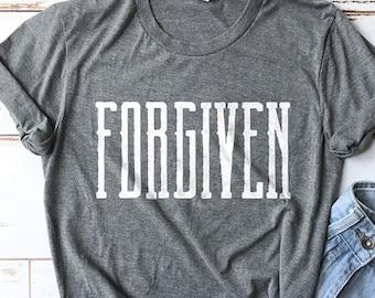 Forgiven Shirt, Bible Shirt, Church Shirt, Grace Shirt, Jesus Shirt, Saved Shirt, Cute Shirt, Mom Shirts, Christian Gifts, Retreat Shirts