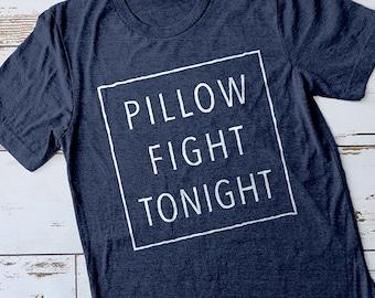 Pillow Fight Tonight Shirt, Cute Pajamas, Cute Sleep Shirt, Pillow Fight Shirt, Sleepover Shirts, Girls Sleepover Shirt, Party Shirts, Pjs