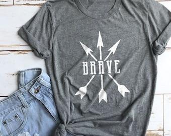 Brave Shirt, Warrior Shirt, Bible Shirt, Church Shirt, Blessed Shirt, Cute Shirt, Mom Shirts, Christian Gifts, Gifts for Women, Cute Shirts