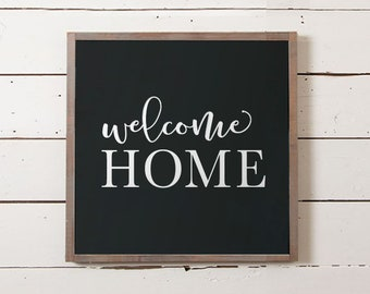 Welcome Home Wall Sign, Welcome Home Wood Sign, Entryway Sign, Wedding Gift, Foyer Sign, Welcome Sign, Housewarming Gift, Newlywed Gift,
