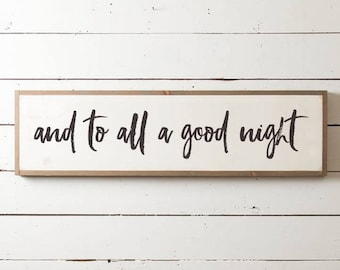 To All a Good Night Romantic Christmas Wall Sign for the Bedroom, Christmas Sign, Christmas Bedroom Sign, Fixer Upper Christmas Sign