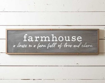 Farmhouse Sign, Fixer Upper Sign, Farmhouse Decor, Home Sweet Home Sign, Farmhouse Sweet Farmhouse, Country Sign, Wood Farmhouse Signs