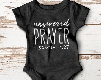 Answered Prayer Baby Onesie®, Christian Baby Gifts, Christian Baby Shirt, Bible Verse Onesie®, Baby Shower Gift, This Child I have prayed