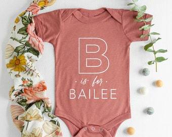 Alphabet Name Baby Onesie®, Cute Baby Clothes, Baby Shower Gift, Alphabet Name Baby Onesie®, Baby Gifts, Baby Onesie®, Monogram Baby Onesie®