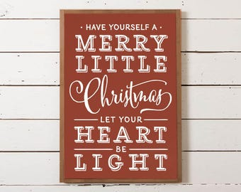 Have Yourself a Merry Little Christmas Wall Sign | Farmhouse Christmas Sign, Christmas Sign, Fixer Upper Christmas, Joanna Gaines Christmas