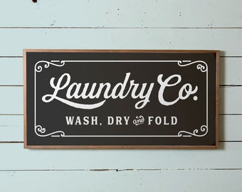 Laundry Sign, Large Laundry Wall Sign, Fixer Upper Laundry Sign, Silo Laundry Sign, Vintage Laundry Co Sign, Modern Farm Laundry Sign