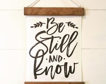 "Christian Wall Decor | ""Be Still and Know"" 