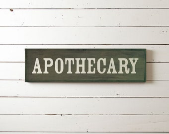 "Wall Sign ""Apothecary"" 