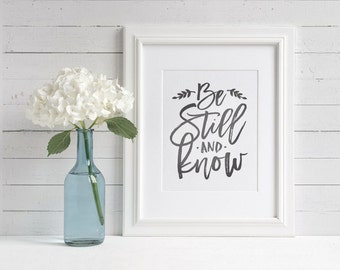 "Christian Art Print | ""Be Still and Know"" 