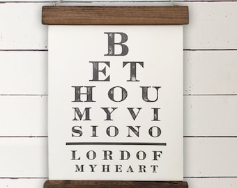"Vintage Eye Chart Wall Decor | ""Be Thou My Vision"" 