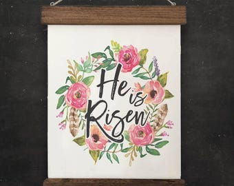 "Easter Wall Decor | ""He is Risen"" 