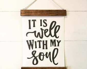 "Christian Wall Decor | ""It is Well"" 
