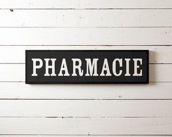 Pharmacy Wall Sign, Fixer Upper Wall Sign, Fixer Upper Wall Decor, Modern Farm Sign, Pharmacie, Antique Sign, Vintage Sign, Farmhouse Sign