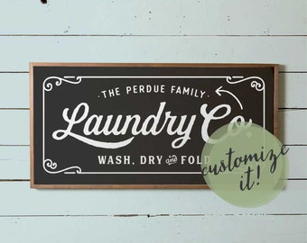 Laundry Sign, Large Laundry Wall Sign, Fixer Upper Laundry Sign, Magnolia Laundry Sign, Vintage Laundry Co Sign, Joanna Gaines Laundry Sign