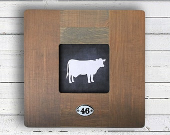 Farmhouse Wall Decor | Black and White Cow Tag, Silo Farms Wall Decor, Modern Farm Wall Decor, Fixer Upper Wall Decor, Farmhouse Decor