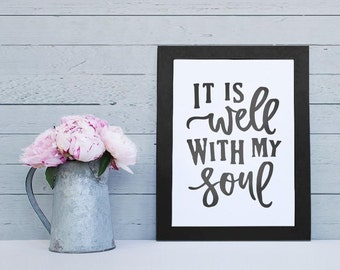 "Christian Wall Decor | ""It is Well with My Soul"" 