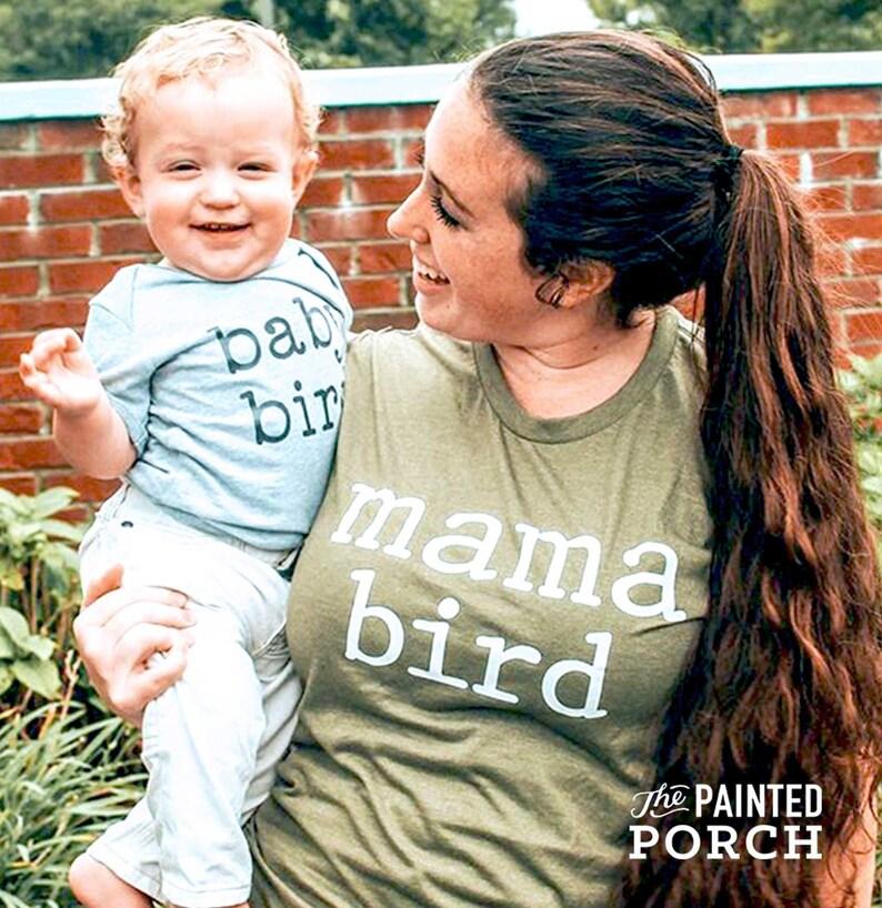 Matching Mom /& Kids Shirts Kid Shirts Baby Bird Onesie\u00ae Baby Bird Toddler Mom and Kid Shirt Sets Baby Bird Kids Shirt Twinning Shirts