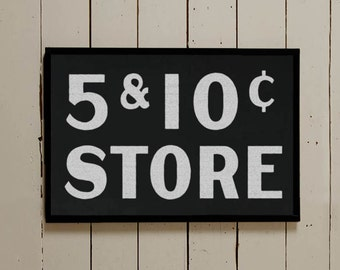 Fixer Upper Sign, Five and Dime Sign, Silo Wall Decor, Farmhouse Wall Decor, Vintage Wall Sign, Vintage Wall Decor, Antique Store Sign